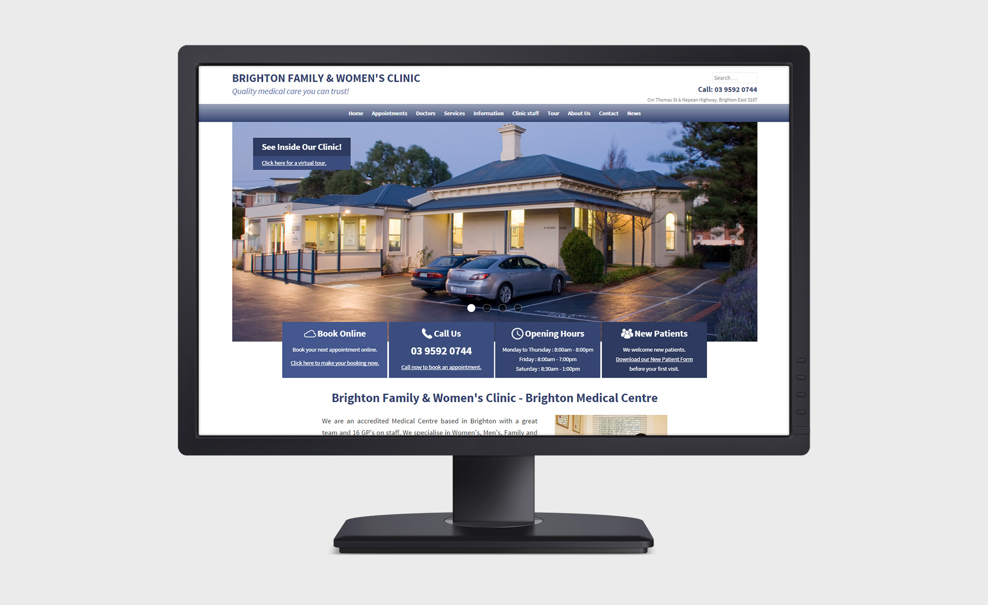 responsive web design for medical clinic