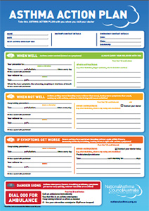 my asthma action plan template - asthma action plan and asthma treatment brighton family